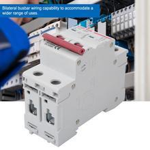 2P AC MCB  GYM8-C45 Miniature Circuit Breaker 400V 6A 10A  20A  2 Poles Bilateral Busbar Wiring Circuit Breaker цена в Москве и Питере