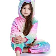 Unicorn Pyjamas Onesie Baby Costume Animal Girl Winter Boy Children Cartoon