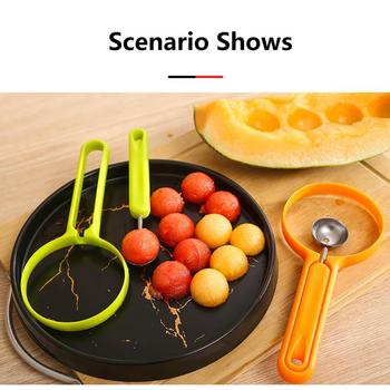 2 Colors Seed Remover Household Kitchen Two-in-one Fruit Ball Digging Ice Cream Spoon Stainless Steel Vegetable And Fruit Cutter image