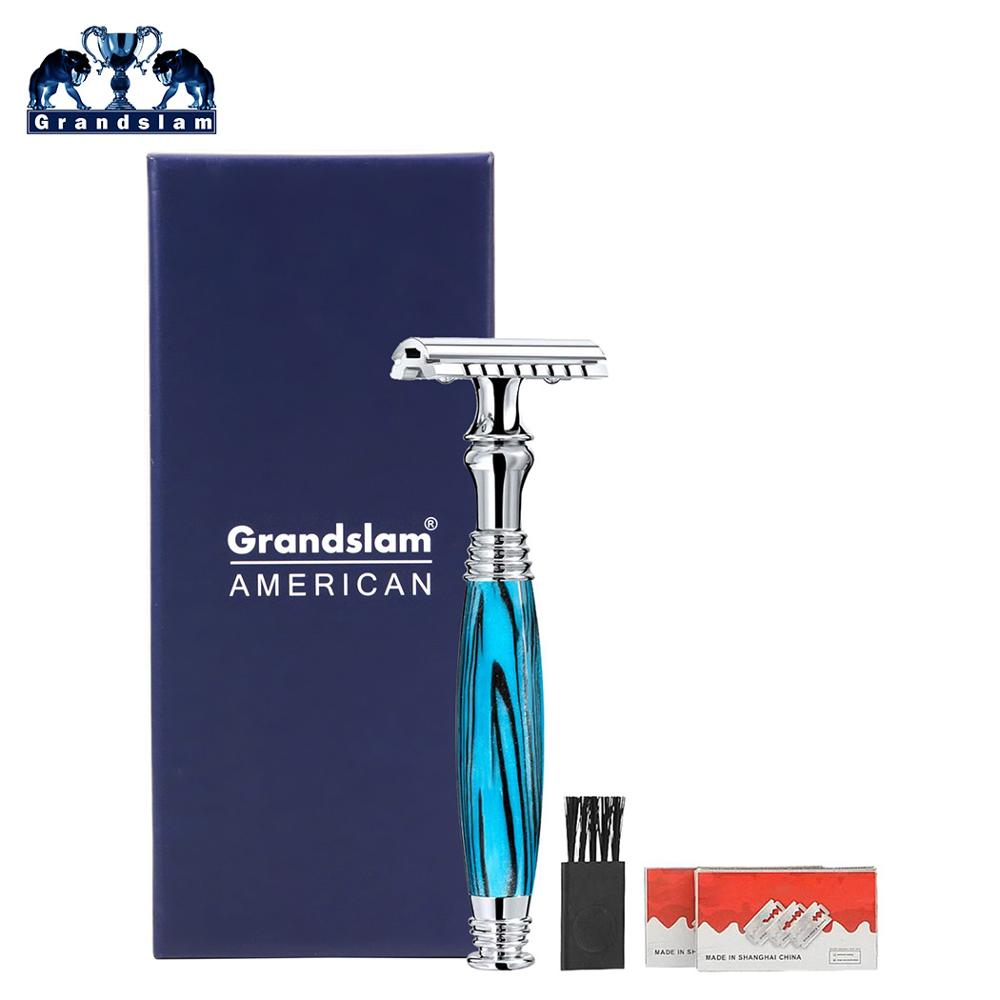 Grandslam Double Edge Man Shaving Safety Razor Resin Handle Shaver Blade Holder Shaving & Hair Removal For Best Men's Gift