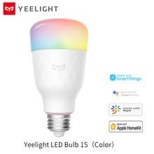 Yeelight 1S צבעוני הנורה E27 חכם APP WIFI שלט רחוק חכם LED אור צבעוני טמפרטורת מנורת לxiaomi mijia MI הבית