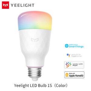 Image 1 - Умная Светодиодная лампа Yeelight 1S E27, цветная лампа с дистанционным управлением через приложение, Wi Fi, для xiaomi mijia MI home
