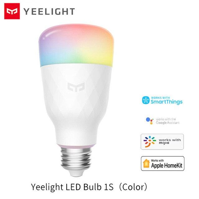Умная Светодиодная лампа Yeelight 1S E27, цветная лампа с дистанционным управлением через приложение, Wi Fi, для xiaomi mijia MI home