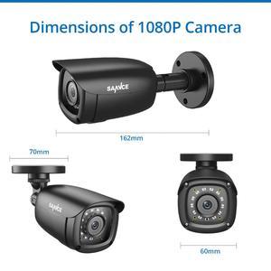 Image 4 - SANNCE 8CH 1080P نظام أمن الفيديو المنزلي مع 5IN1 1080N DVR 4X 1080P الذكية الأشعة تحت الحمراء في الهواء الطلق كاميرا مقاومة للماء طقم مراقبة الدوائر التلفزيونية المغلقة