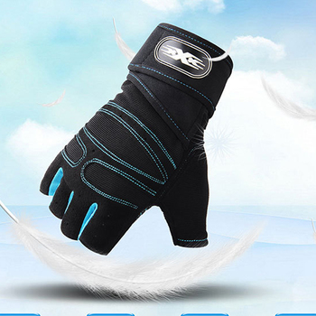 Express Free Shipping 24PCS lot 7 Colors Sports Half finger Gloves Exercise Gym Gloves Body Building