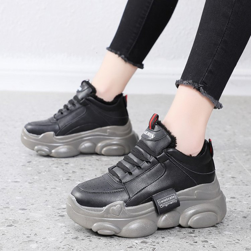 2020 Women Flat Platform Sneakers Woman Running Vulcanised Shoes Breathable Casual Trainers Women Walking Sports Chunky Sneakers