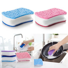 Three-Layer Composite Sponge Household Cleaning Supplies /Nano  Clean Scouring Pad