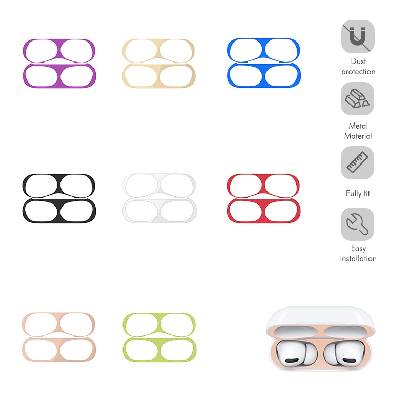 1Pcs Metal Dust Guard Sticker For Apple AirPods Pro 2019 Cover Dustproof Protective Sticker Skin Protector For Air Pods 3
