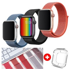 Band For Apple Watch Series 4 3 2 1 38MM 42MM Nylon Soft Breathable bracelet Replacement Strap Sport Loop for iwatch 4 40MM 44MM цена и фото