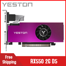 Yeston Radeon RX550 2GB GDDR5 PCI Express 3,0 DirectX12 Single Slot grafikkarte VGA HDMI DVI-D grafikkarte GPU fan von PC