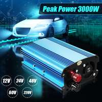 KROAK Car Inverter 3000W DC 12/24/48/60V To 220V Solar Power Inverter Converter for road trips vacations outdoors car truck