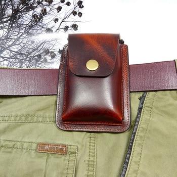 цена на blongk Multifunctional Genuine Leather Zippered Driver's License Case Card & ID Holder Car Key Pouch key Belt Bag Waist Pack LFD