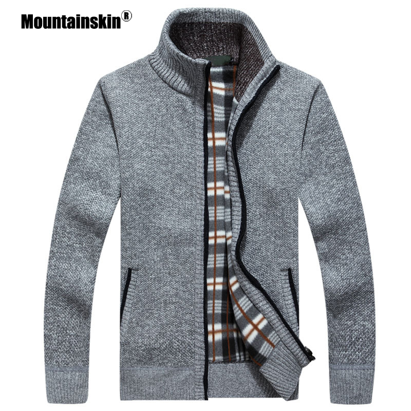 Mountainskin New Men's Sweaters Autumn Winter Warm Pullover Thick Cardigan Coats Mens Brand Clothing Male Casual Knitwear SA582(China)