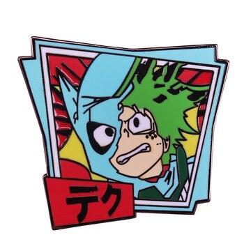 Значок с отворотом Deku my hero academic Милая брошь в стиле аниме