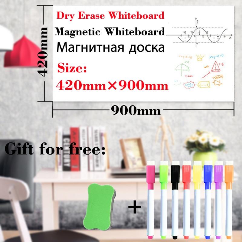 Magnetic Dry Erase Board Whiteboard School White Board Fridge Stickers Office Wall Board Kitchen Child Draw Message Board 42*90