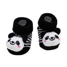 New Baby Socks Rubber Anti Slip Kids Foot Socks Funny Happy Girl Boy Socks Panda Print Socks Newborn 0-6-18 Month 2019(China)