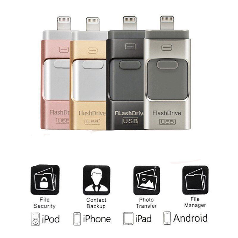 2019 New Otg USB Flash Drive For IPhone/Android Phone Pen Drive For IPhone 5 6 6P 6S 7 7P 7S 8 8P X XS XR Pendrive IOS 8.0 Above