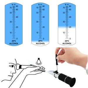 Image 5 - Портативный ручной спиртометр 0 80% спиртовой рефрактометр тестер содержания ликера с розничной коробкой инструмент для измерения вина скидка 35%