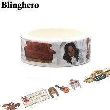 CA153 Blinghero друзья ТВ шоу Васи группа DIY Скрапбукинг Ремесло клейкая бумага маскирующая Лента Печатный узор наклейки
