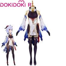 Dokidoki-r jogo genshin impacto cosplay ganyu traje genshin impacto ganyu cosplay bonito