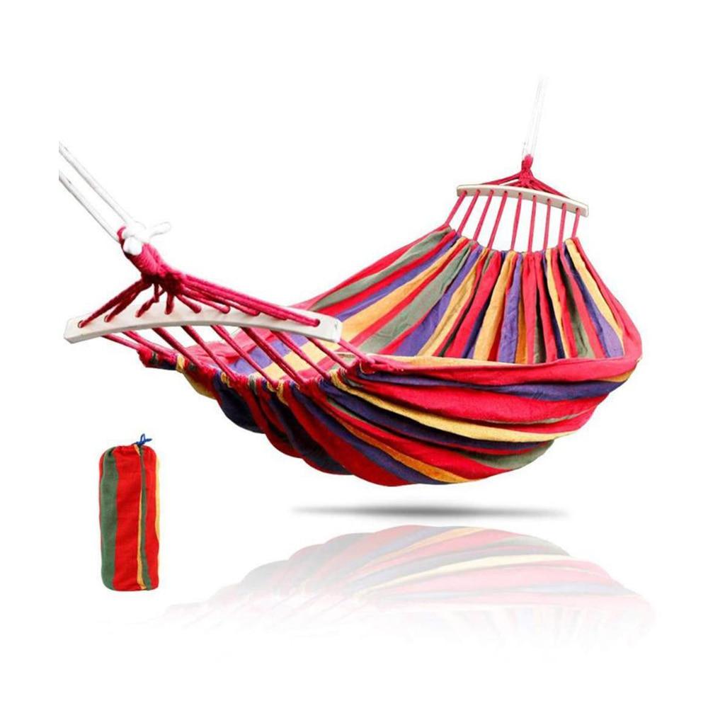 Hanging Hammock Indoor Travel Outdoor Camping Home Bedroom Hammock Lazy Chair Swing Chair Thick Canvas Portable Hammocks|Hammocks| - AliExpress