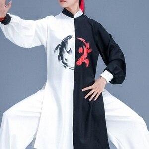 Image 4 - הסיני Taichi אחיד קונג פו בגדי אומנויות לחימה חליפת ביצועים חליפות וושו קונג פו תחפושת תלבושת טאי צ י בגדי FF2242