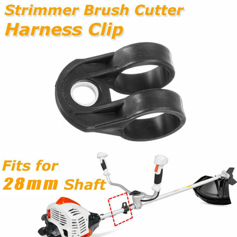 1PCS Universal Trimmer Brushcutter Harness Hook Clip Bracket Black For 26/28mm Shaft Tool Parts Clamptite Tool