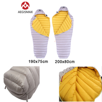 AEGISMAX LETO Outdoor Adult Ultralight Sleeping Bag Camping Mummy 700FP Ultra Dry Goose Down Lazy Bag Compression Stuff Sack