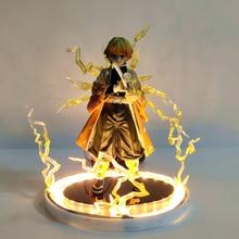 Demon Slayer Action Anime Figures Kimetsu no Yaiba Agatsuma Zenitsu Night Lights Led Set Figurine Model Toys for Children Model