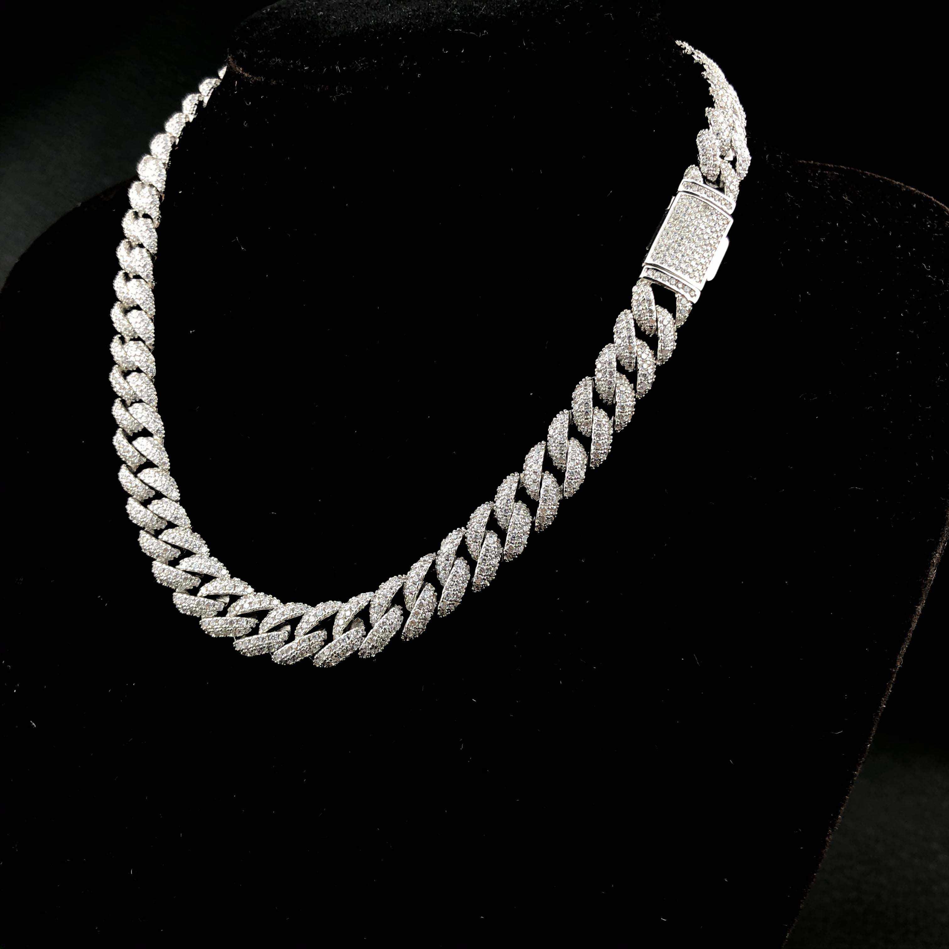 Алмазная кубинская цепь 10 мм
