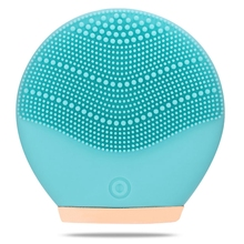 Electric Vibration Facial Cleansing Brush Skin Remove Blackhead Pore Cleanser Waterproof Silicone Face Massager For Women недорого