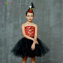 Платье пачка для девочек вечернее платье из тюля в стиле цирка