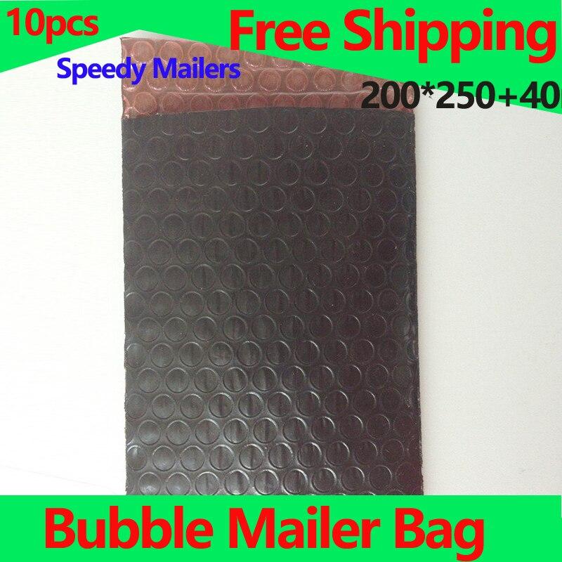 Bubble Mailers Antistatic Bag Black PE Film Complex Red Bubble Combination Bag 200*250+40mm 10pcs Seal Bubble Envelope bag