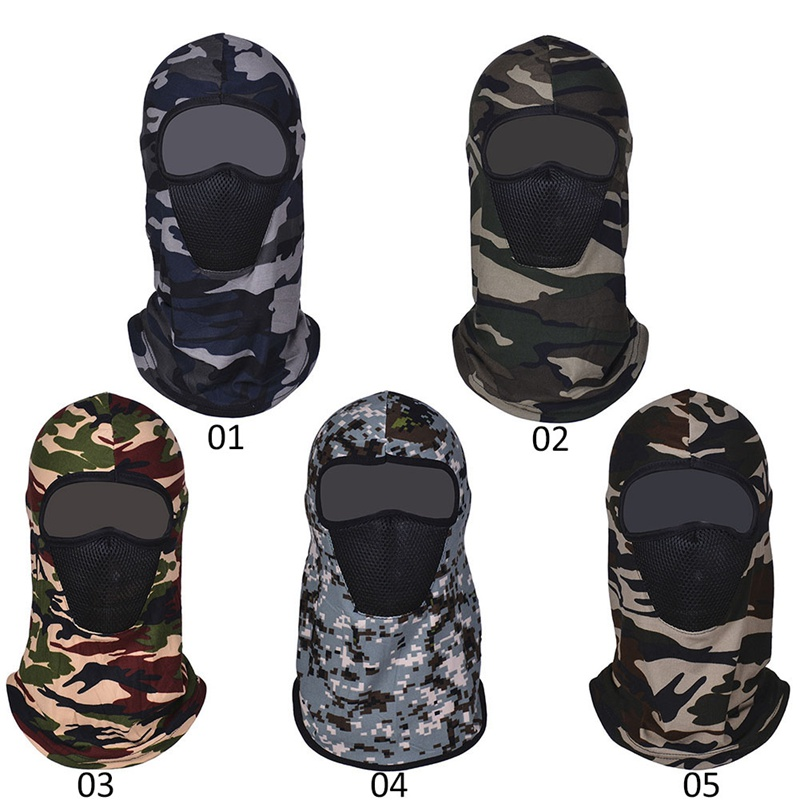 Motorcycle Riding Camouflage Windproof Bicycle Warm Mask Scarf Cycling Face Mask Climbing Skiing Fishing Winter Face Protection
