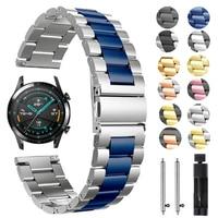 Metalen Polsband Voor Huawei Horloge Gt 2 GT2 46Mm 42Mm Band Armband Voor Honor Magic Es Horloge 20Mm 22Mm Rvs Horlogeband