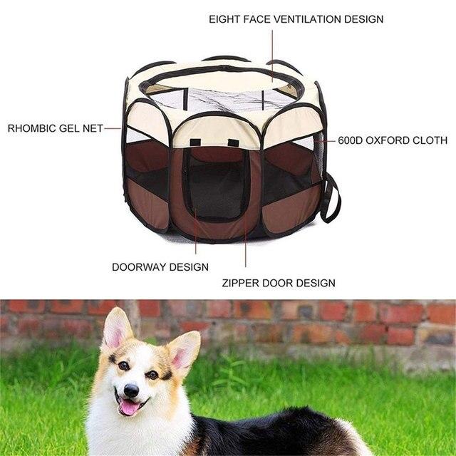 Foldable Puppy Waterproof Outdoor - Indoor Kennel 3