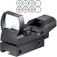 Quente 20mm 11mm ferroviário riflescope caça óptica holográfica red dot sight reflex 4 reticle tactical scope colimador vista parte