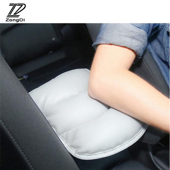 ZD 1X Car Styling Armrests Center Console Cover Pad For Skoda Octavia A5 A7 2 Fabia Yeti BMW E60 F30 X5 E53 Inifiniti Accessorie image