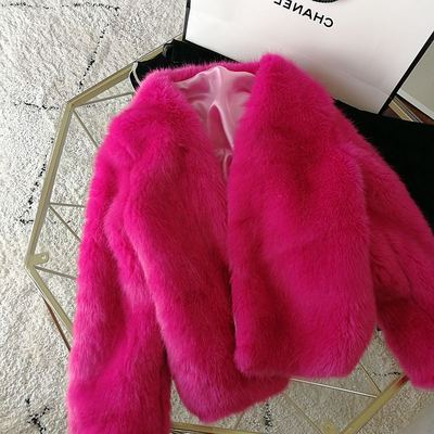 2020 New Style High-end Fashion Women Faux Fur Coat S97