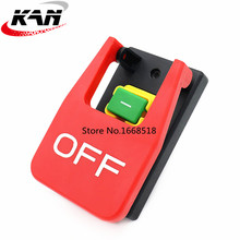KJD17B 16 4 Pins Table Saws Electromagnetic Push Button Switches 16A AC250V Paddle Switch For Bench Drills/Grinders/Lathes