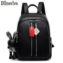 DIINOVIVO Women Backpack Small PU Leather Bagpack Female School Shoulder Bag Rabbit Designer Travel For Girls WHDV1307