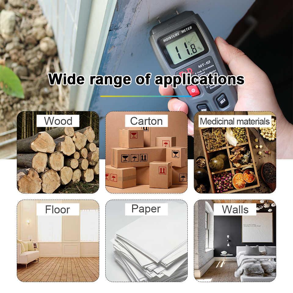 R & D MT-10 EMT01 עץ מד לחות עץ לחות בודק מדדי לחות עץ לח גלאי עץ צפיפות הדיגיטלי tester גריי