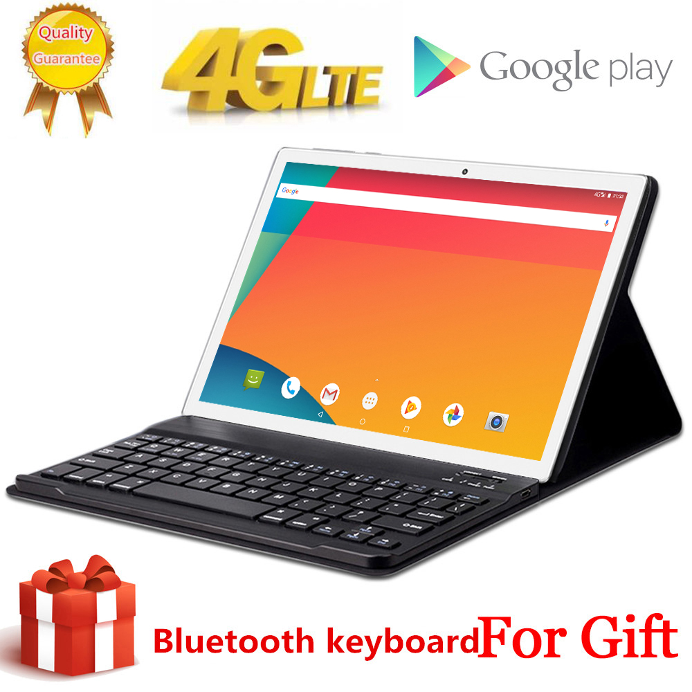 2020 Free Gift Bluetooth Keyboard 4G LTE 10.1 Inch 2.5D Tablet Pc 2560x1600 10 Deca Core MTK6797 8GB RAM 256GB ROM Android 8.0
