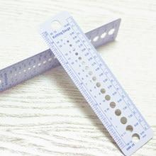 Royaume-uni états-unis Canada tailles accessoires de tricot aiguille jauge pouce règle de couture outil CM 2-10mm taille mesure outil de couture Patte de couture règle