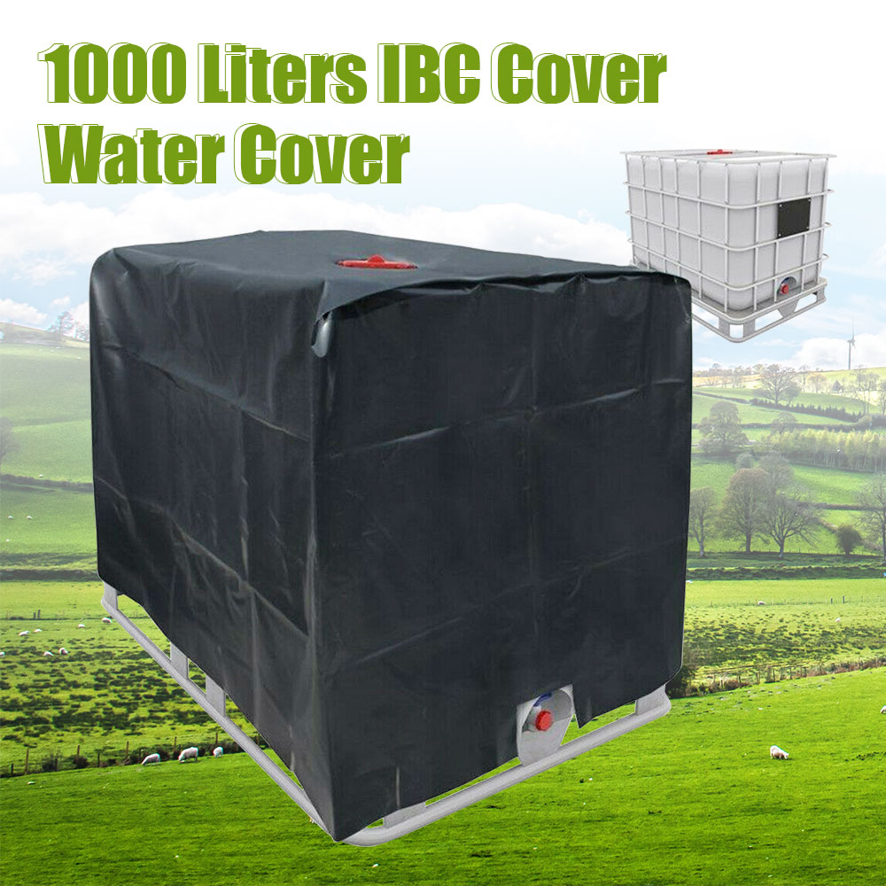 IBC Tank Cover,Black Water Tank Cover,Protective Hood Cover For Rain Water Tank 1000 Liters Container IBC Foil