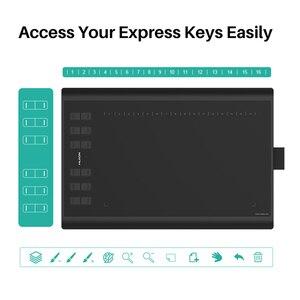 Image 5 - HUION H1060P Graphic Drawing Tablet Battery  free Stylus Tilt ±60° Digital Tablet 8192 Pen Pressure 12 Express Keys OTG Adapter