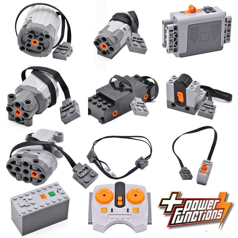 Blocos de construção técnica parte compatível para legoeds multi ferramenta elétrica servo trem motor elétrico bateria modelo conjuntos kits construção