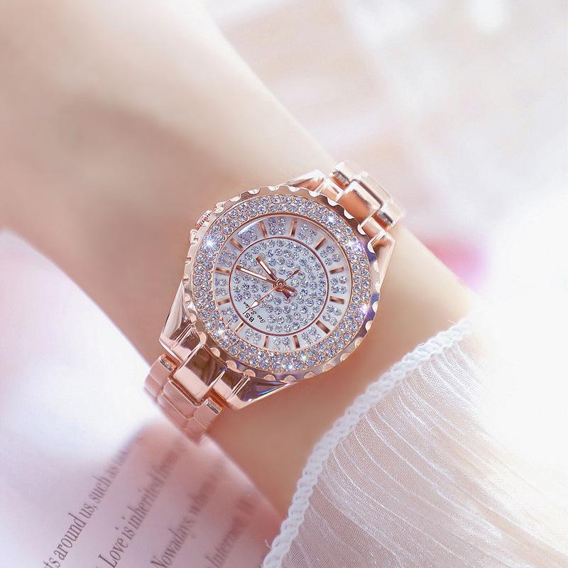 BS Top Brand  Lady Rhinestone Fashion Watch Women Quartz Watch Women's Wrist Watches Female Dress Clock Xfcs Relogio Feminino