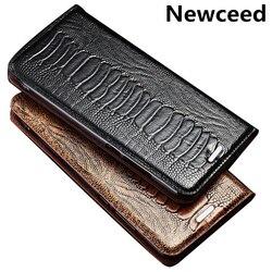 На Алиэкспресс купить чехол для смартфона ostrich plaw genuine leahther phone bag for oppo realme ace 2/realme c3/realme x/realme 6/realme 6 pro flip cover funda coque