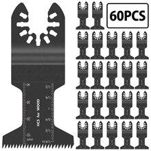 60pcs 44mm Multi-function Oscillating Saw Blade Combination Set Swinging Multi-purpose Tool Saw Blade Dressing Power Tools